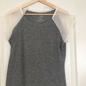 American eagle Grey and white festival t